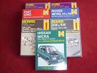 HAYNES CAR OWNERS WORKSHOP MANUALS IDEAL FOR COLLECTORS .
