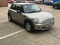 2009 Mini Cooper 1.6D, FSH, 62K Low mileage, 12 months MOT,Great Condition, Road Tax £20
