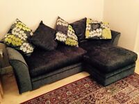 Sofa - 3 seater/like new/l-shape extension/back cushions included