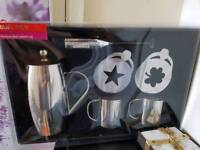 Stainless steel cafetiere set