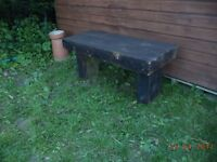 wooden sleeper benches