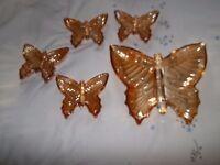nibbles trays x 5 in shape of butterflys