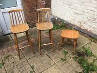 FREE! 3 Wooden Stools FREE TO COLLECT!