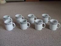 Brand New 8 Black & White Mugs