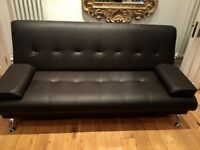 £100 Venice Sofa Bed. 3 Seater. Faux Leather. Purchased July 2017 £190 *pick up only