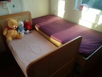 Children 1 cot bed & 1 single bed