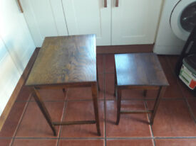 Two small tables