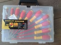 Brand New-Stanley FatMax VDE 10pce Screwdriver Set, VDE 1000volts, carry pack