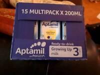 Multipack 15 200ml aptamil stage 3 milk