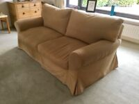 A Toffee Coloured TETRAD three seater Sofa