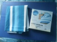 TWO BLUE WHITE DUVETS