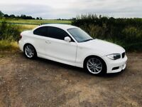 Bmw e82 coupe - 123d - M sport - white bmw - for sale