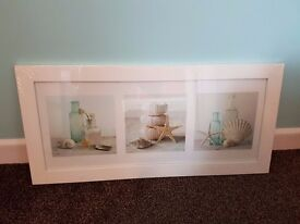 Brand New White Wooden Sea Shells Picture Frame - £10 ONO