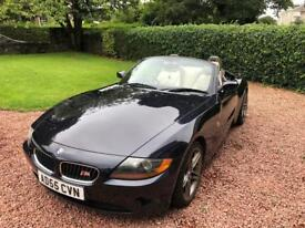 BMW Z4 Convertible 2006 Blue With Beige Leather Very Low Miles 77k