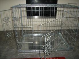 Small dog cage. H 59cm;W 73cm;D 51cm. VGC
