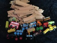 Wooden Thomas the tank and bob the builder
