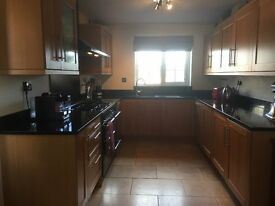 Bargain high quality used kitchen for sale: granite worktops, solid oak doors, integrated appliances