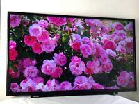 Toshiba 40 inch slim Ultra HD 4K Smart TV WIFI FREEVIEW,N O STAND, Latest model great like new