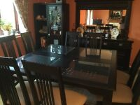 Mahogany 13 piece Dining Suite - Table, 8 Chairs, Sideboard, TV Cabinets