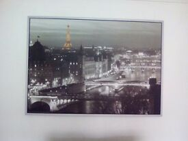 """Large 55""""+39 inch framed Paris picture"""