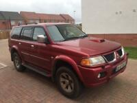 1 year mot no advisory Mitsubishi shogun sport 2.5 Turbo Diesel manual warrior 2006 registration 4wd