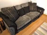Black and grey sofa - great condition