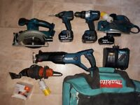 Makita set (not dewalt, bosch)