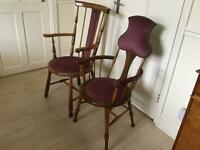 2 Old Occasional Chairs