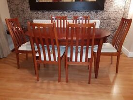 Mahogany Dining Table 6 Chairs