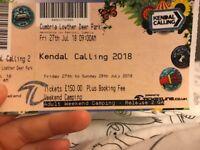 Kendal calling ticket weekend camping