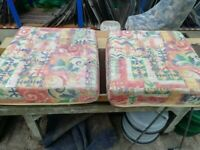 Caravan seat base cushions