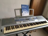 Yamaha DGX200 keyboard with stand complete with manual.