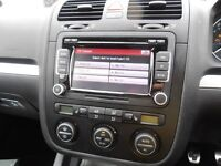Genuine VW RCD510 touch-screen radio, MP3, 6 CD changer, SD card reader, MDI iPhone interface.