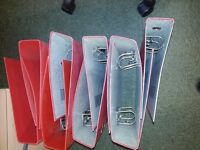 GOOD, USEABLE LEVER ARCH FOLDERS, JUST A BIT DUSTY - (QTY 60 ON OFFER)