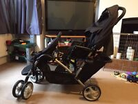Graco Black Double Buggy