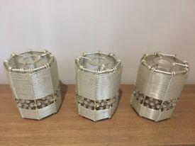 Set of three lampshades