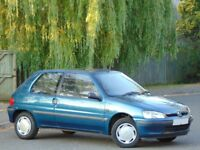 1996 Peugeot 106 XL 1.1 Petrol.. ONLY 21,800 GENUINE VERY LOW MILES!..