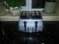 Toaster 4 slice De Longhi Silver