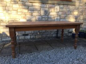 6FT LARGE SOLID PINE FARMHOUSE DINING KITCHEN TABLE BUTCHERS BLOCK