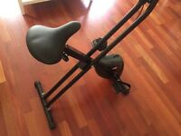 XS Sports Magnetic Foldable Exercise Bike with pulse, distance & cardio counter