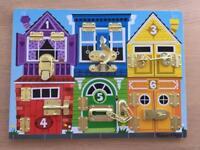 Melissa & Doug Latches/Locks Board - Excellent Condition