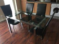 For Quick Sale | Glass Dining Table and 4 Chairs