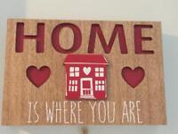 Hanging home plaque