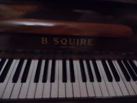 small upright piano by squire -superb-