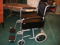 """Enigma Aluminim Transit Folding Wheelchair with 18"""" Seat Width With"""