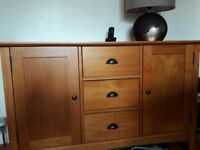 Next pine sideboard