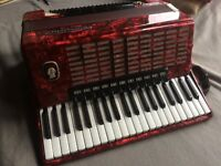 Accordion- German- 120 bass buttons - 16 registers - Weltmeister Stella