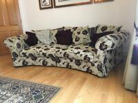 Large curved settee