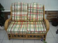 two seater cane settee £35