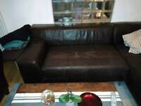 Leather 2 seat Sofa For Free